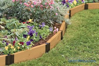 Garden plastic borders: types and features of application
