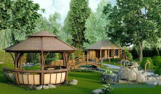 Landscaping of the site - photos of ready-made solutions for arranging the site in a country house
