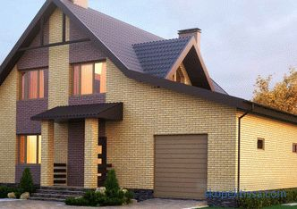 House of aerated concrete with attic floor, the advantages of construction and operation, especially layout