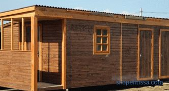 Hozblok with toilet, woodsheds, shower and other buildings under the same roof, buy hozblok in the Moscow region