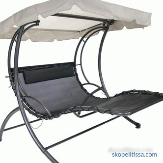 what garden swing-bed can be bought cheaply in Moscow - prices, photos, video