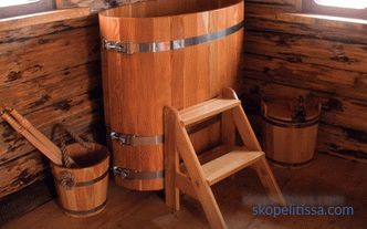 Wooden bath tub: types, installation, cost
