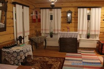 decoration in different country styles, with stove or fireplace