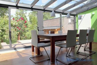 Sliding roof for the terrace, pool, restaurant and industrial hall - design features