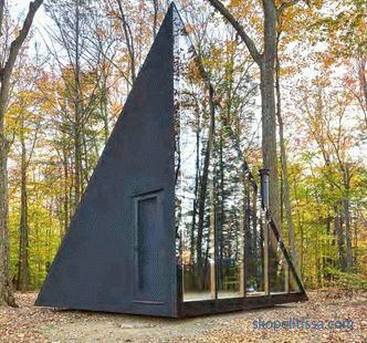 Crystal shaped miniature house in the forest of Lansville