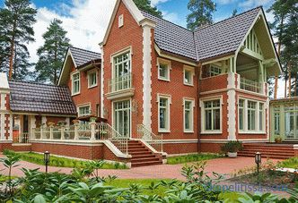 brick, turnkey construction in Moscow, photo