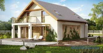 Photo cottages with a 2 sloping roof, price