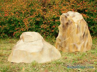Decorative boulder - a description of the technical properties and functional purpose