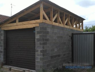 Construction of a 6x4 garage, how and from what to build, how to calculate the number of blocks