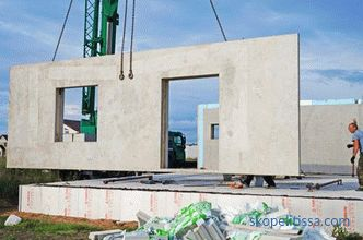 Construction of the house of reinforced concrete panels