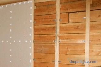 Plasterboard walls of the wooden house, the rules, nuances and stages of work, photos and video