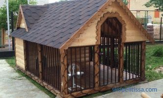 Aviary for dogs - drawings, sizes, photos and videos