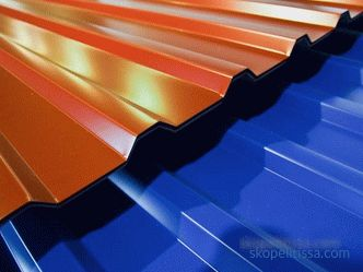 types of roofing corrugated sheet, characteristics and cost of sheet, photo