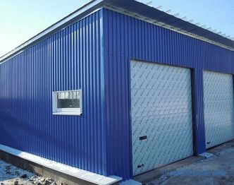 Metal profile garage: installation and assembly technology