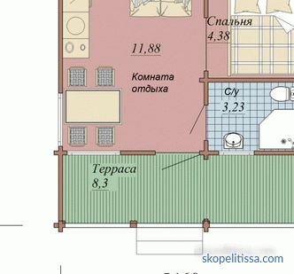 Guest house in the country: projects, features, layout
