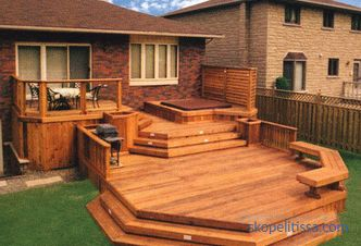 photos, schemes and drawings to create a terrace