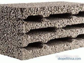 Lightweight aggregate blocks - specifications, dimensions, pros and cons