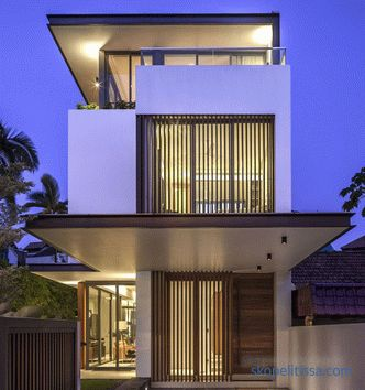 Projects of one-storey houses for narrow areas, planning, schemes, photos in the catalog