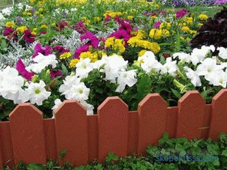 Decorative fences for flower beds - the best ideas from designers, photos, ideas