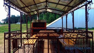 turnkey price, cheap to buy a gazebo with a barbecue for giving in Moscow