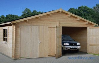 Projects of garages with hozblok (with the economic part): options for buildings