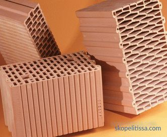 sizes, advantages of porous keramoblocks, pros and cons, photos