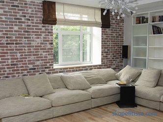 Decorative facing brick: types, application in an interior, rules of laying