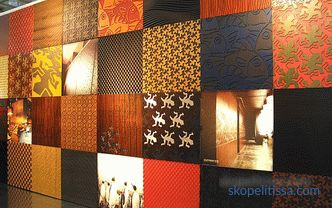 Wall panels for interior walls: types, materials, characteristics, installation