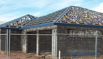 Hip roof - truss system of hip roof, calculation, stages of installation + photo and video