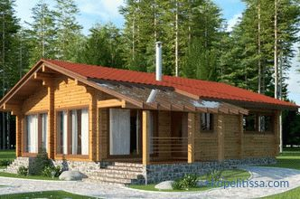 Houses from a turnkey bar cheap for permanent residence the price in Moscow, projects for construction with a photo