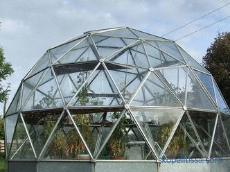 The glass greenhouse at the dacha, the types of glass greenhouses and the criteria for their selection