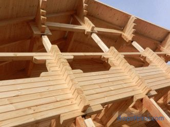 assembly of log houses, mounting technology, photo