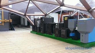 "Samples of stoves and pellet boilers at the exhibition of houses ""Low-Rise Country"""