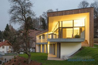 Lighting of facades of private houses, types and possibilities of realization