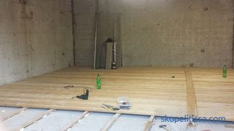 Wooden floor in the garage: technology facilities