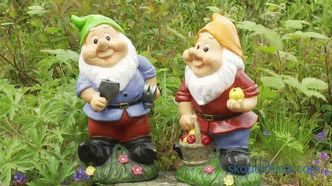 Plaster garden figurines, a choice of colors and methods of dyeing, care for garden decor from plaster