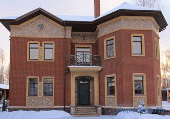 Beautiful brick houses, brick facades, stylish designs, projects and photos