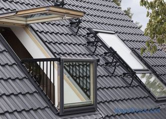 roof exit device, requirements for pitched roof