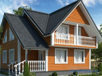 Houses 7 for 8 on a turnkey basis with a mansard, projects for construction in Moscow, prices, layouts, photos
