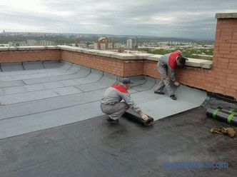 types of apron, the minimum height and the device of the junction of the parapet to the flat roof according to the SNiP