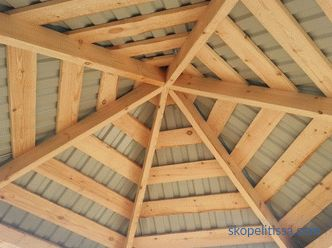 structural elements of different roof structures