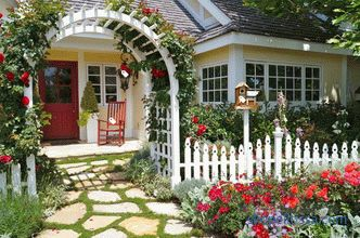 Decorative fences for the garden, garden fences, design ideas, photos
