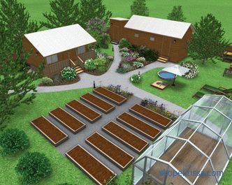 photos and planning schemes, a plan for an exemplary design of the garden area