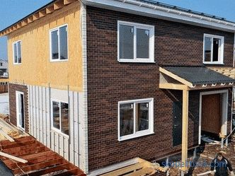 options for finishing the facade of a frame house with examples