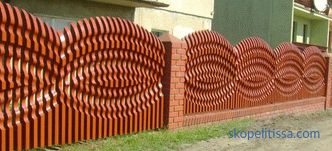 Beautiful fences for private houses: photos and creative ideas