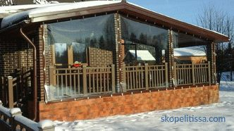 PVC windows for terraces, prices in Moscow, photo