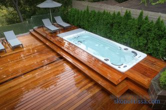 Spa pools for gardening - features, benefits, varieties (stationary, portable, inflatable)