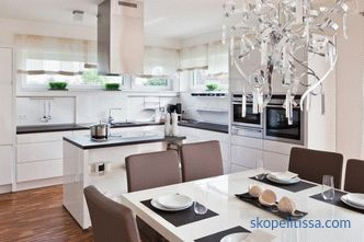 Interior design kitchens of country houses - how to best utilize the available space
