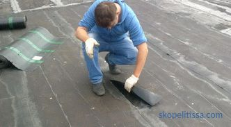 Dismantling of the roll roof, methods, features and process steps, which affects the cost of the roof disassembly