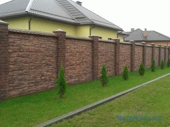 Painting a concrete fence, what and how to paint, paint selection, photo